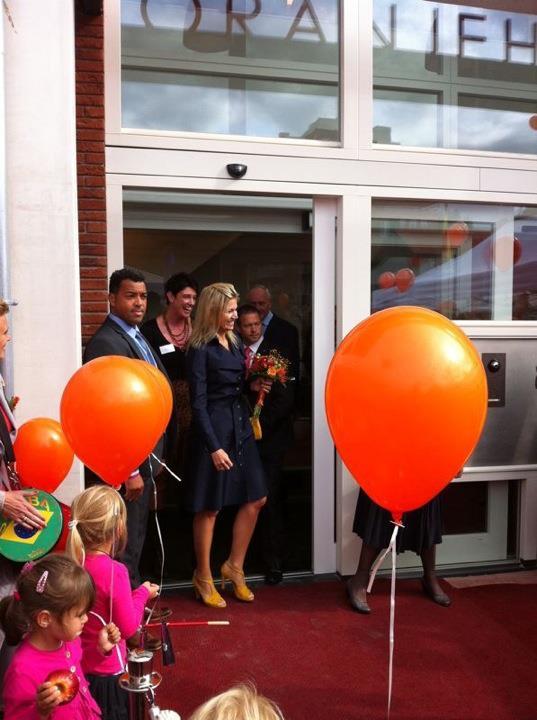 Opening oranje huis Alkmaar, wij mochten het boeket voor Prinses Maxima Maken